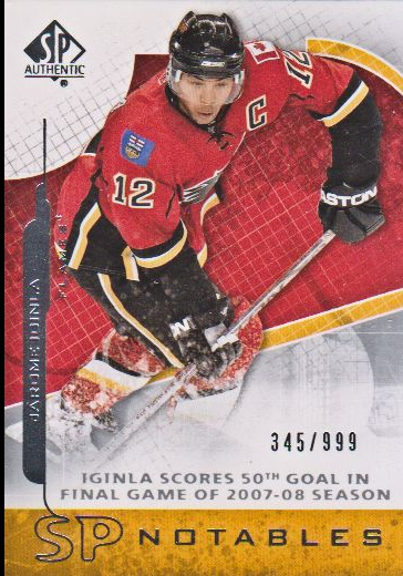 2008-09 SP Authentic #118 Jarome Iginla N