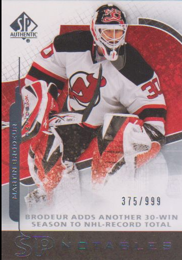 2008-09 SP Authentic #131 Martin Brodeur N