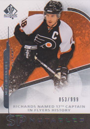 2008-09 SP Authentic #145 Mike Richards N