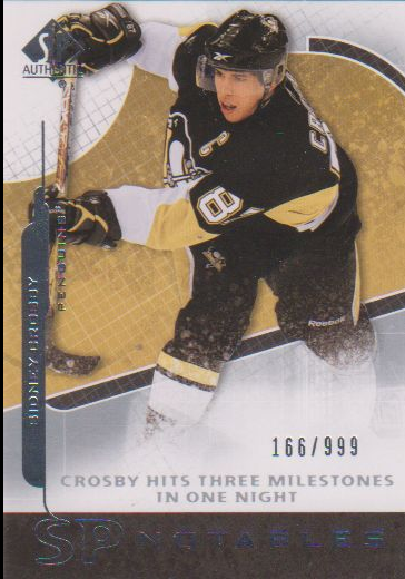 2008-09 SP Authentic #150 Sidney Crosby N