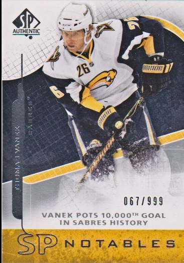 2008-09 SP Authentic #155 Thomas Vanek N