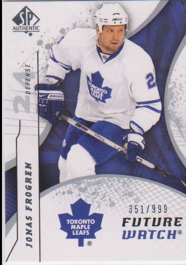2008-09 SP Authentic #170 Jonas Frogren RC