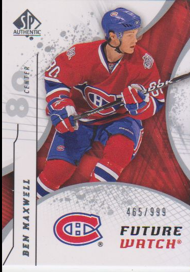 2008-09 SP Authentic #172 Ben Maxwell RC