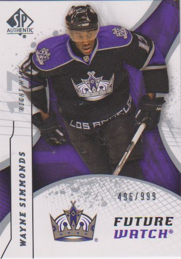 2008-09 SP Authentic #189 Wayne Simmonds RC