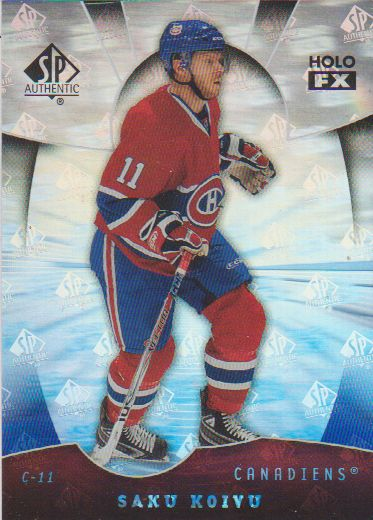 2008-09 SP Authentic Holoview FX #FX65 Saku Koivu