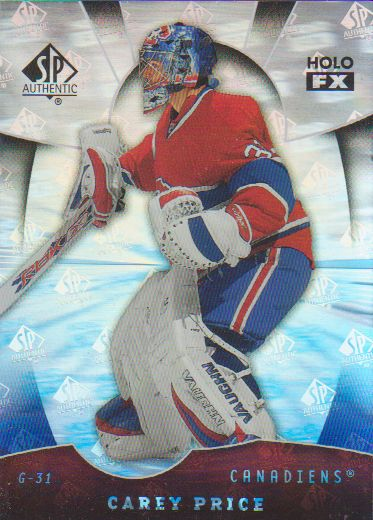 2008-09 SP Authentic Holoview FX #FX66 Carey Price