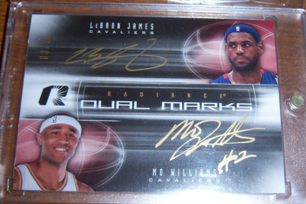 2008-09 Upper Deck Radiance Marks Dual #DMJW LeBron James/10/Mo Williams