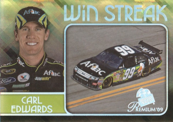 2009 Press Pass Premium Win Streak #WS2 Carl Edwards