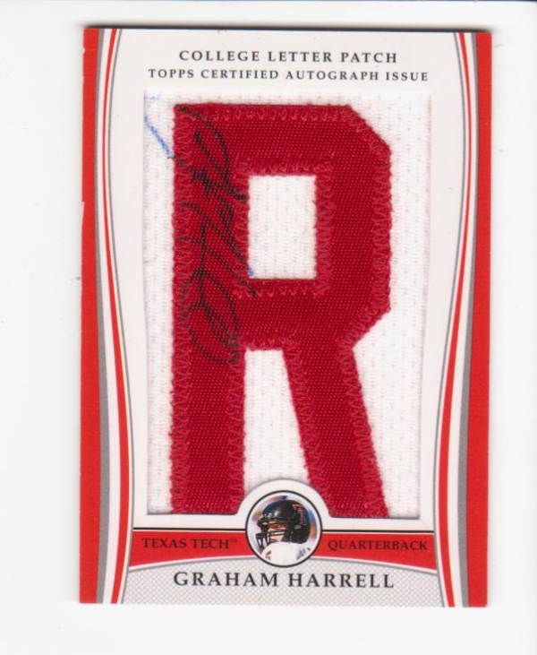 2009 Bowman Draft College Letter Patch Autographs #GH Graham Harrell A/84*