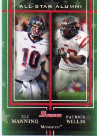 2009 Bowman Draft All-Star Alumni Combos #AAC2 Eli Manning/Patrick Willis