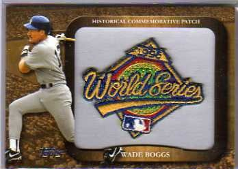 2009 Topps Legends Commemorative Patch #LPR93 Wade Boggs/1996 World Series