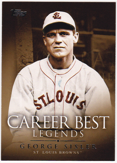 2009 Topps Legends of the Game Career Best #GS George Sisler