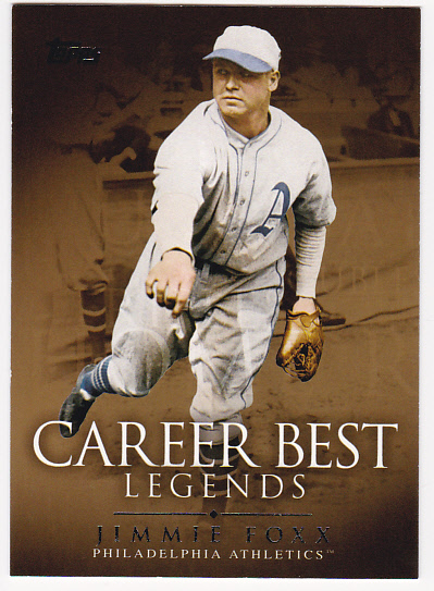 2009 Topps Legends of the Game Career Best #JF Jimmie Foxx