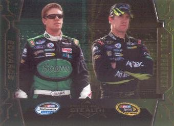 2009 Press Pass Stealth Chrome #71B Carl Edwards DO VAR/Scotts on left