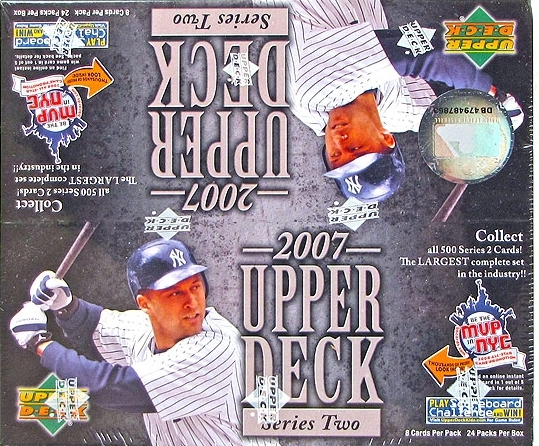 2007 Upper Deck Baseball Retail Box Series 2