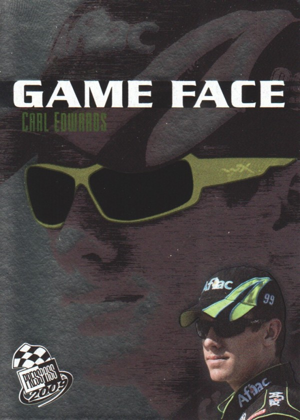 2009 Press Pass Game Face #GF3 Carl Edwards