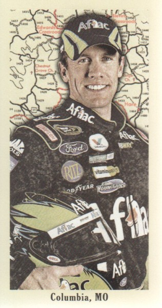 2009 Press Pass Pocket Portraits Hometown #P7 Carl Edwards