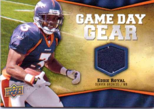 2009 Upper Deck Game Day Gear #ER Eddie Royal