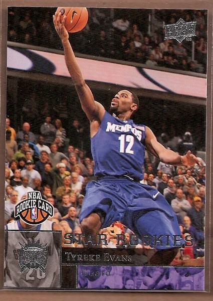 2009-10 Upper Deck #240 Tyreke Evans SP RC