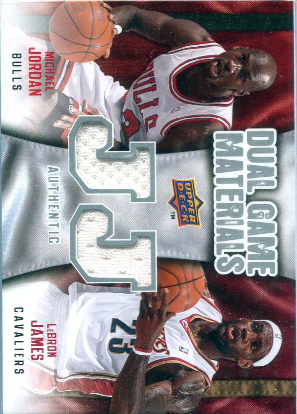 2009-10 Upper Deck Game Materials Dual #DGML LeBron James/Michael Jordan