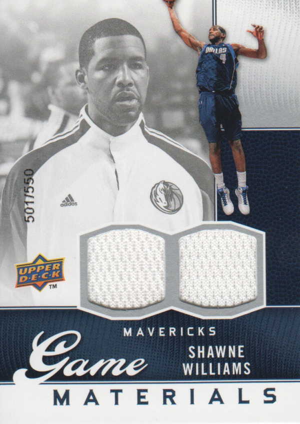 2009-10 Upper Deck Game Materials #GJSW Shawne Williams/550