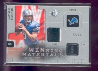 2009 SPx Winning Materials Patch Platinum #WST Matthew Stafford