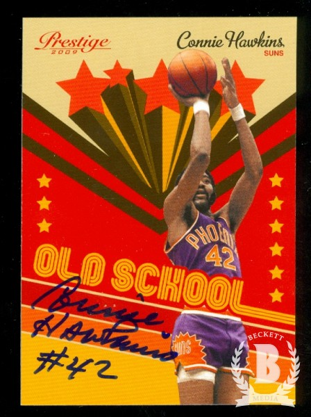 2009-10 Prestige Old School Signatures #1 Connie Hawkins*/100