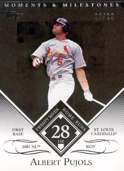 2007 Topps Moments and Milestones Black #1-28 Albert Pujols/HR 28