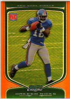 2009 Bowman Chrome Orange Refractors #124 Hakeem Nicks