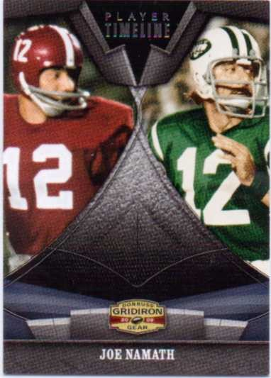 2009 Donruss Gridiron Gear Player Timeline Silver #20 Joe Namath