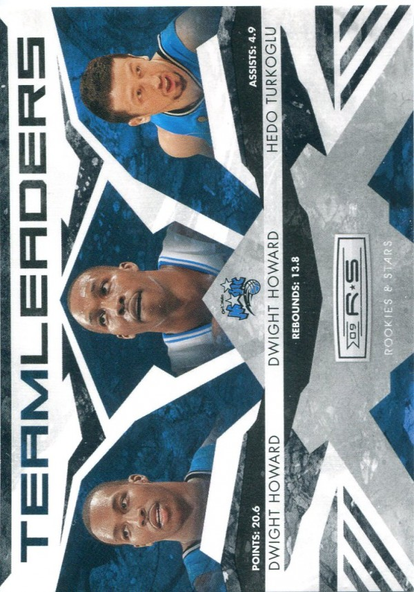 2009-10 Rookies and Stars Team Leaders Black #22 Dwight Howard/Dwight Howard/Hedo Turkoglu