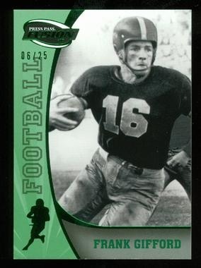 2009 Press Pass Fusion Green #43 Frank Gifford