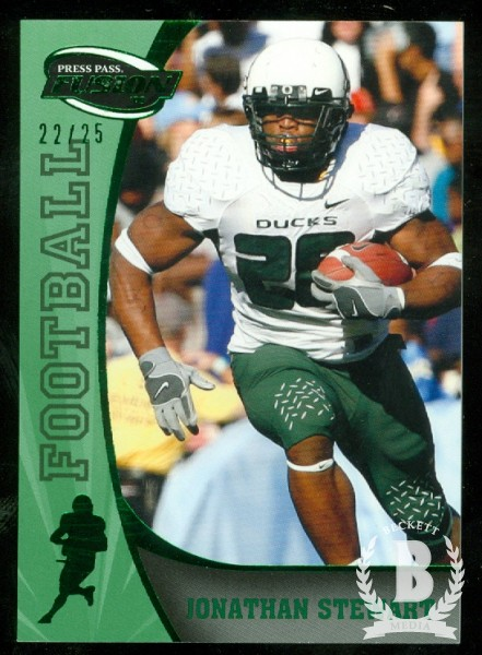 2009 Press Pass Fusion Green #57 Jonathan Stewart
