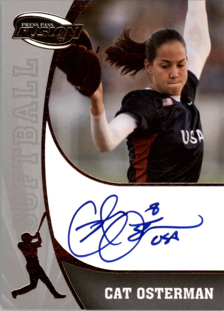 2009 Press Pass Fusion Autographs Silver #SSCO Cat Osterman