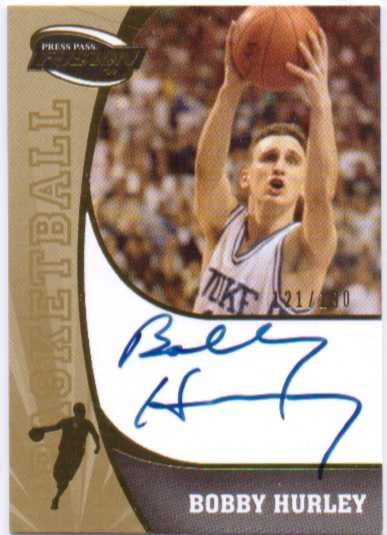 2009 Press Pass Fusion Autographs Gold #SSBH Bobby Hurley/190