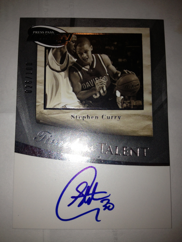 2009 Press Pass Fusion Timeless Talent Autographs Silver #TTSC Stephen Curry/100