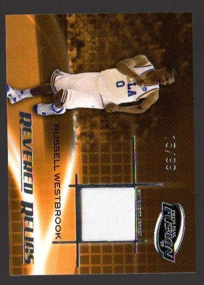2009 Press Pass Fusion Revered Relics Silver #RRRW Russell Westbrook/99