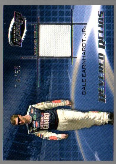 2009 Press Pass Fusion Revered Relics Silver #RRDEJ Dale Earnhardt, Jr./65