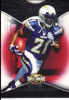 2009 Topps Triple Threads #38 LaDainian Tomlinson