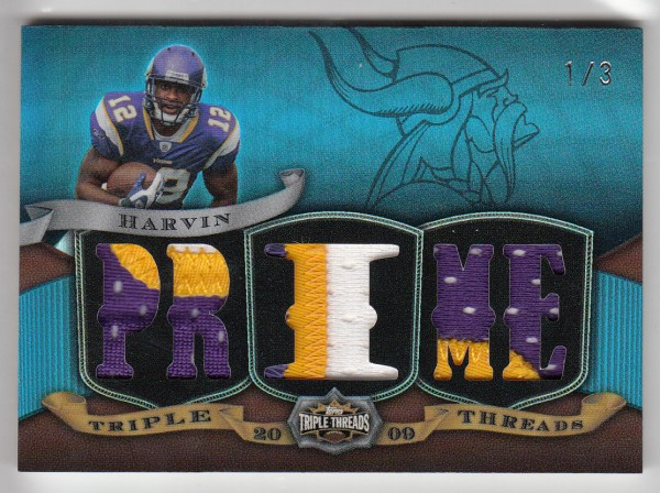 2009 Topps Triple Threads Relic Prime Sapphire #TTR28 Percy Harvin