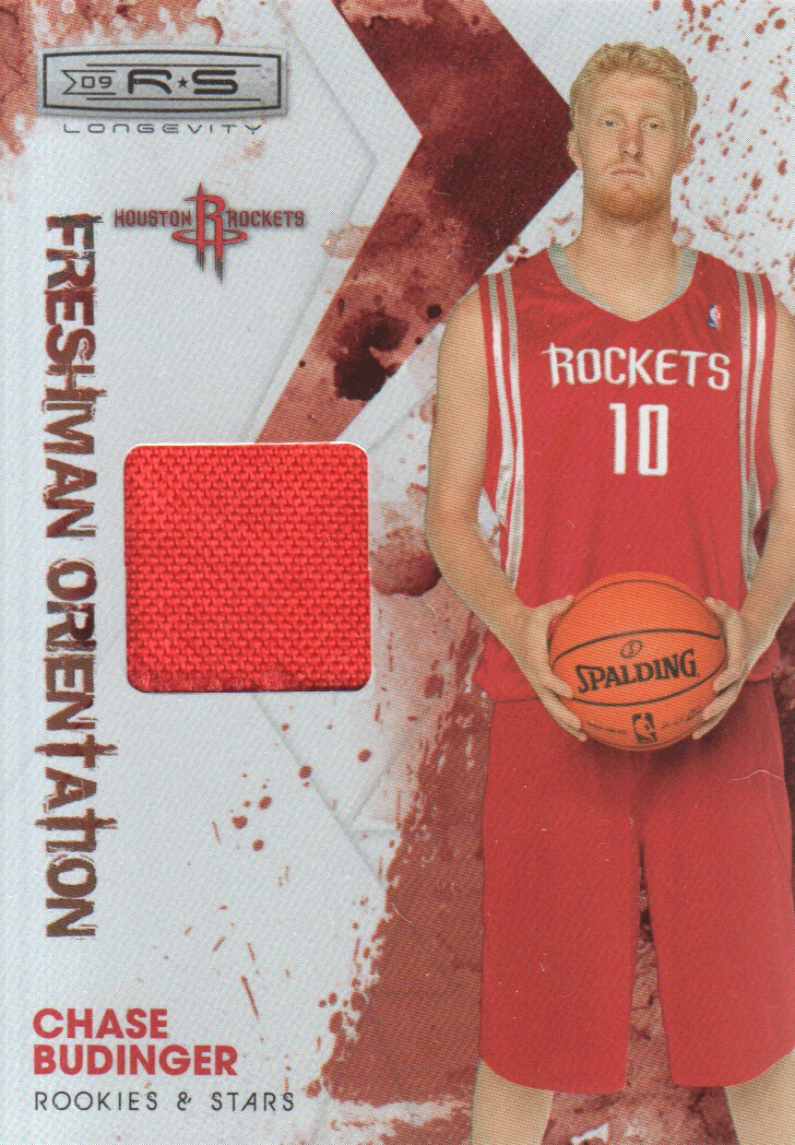 2009-10 Rookies and Stars Longevity Freshman Orientation Materials Jerseys #33 Chase Budinger