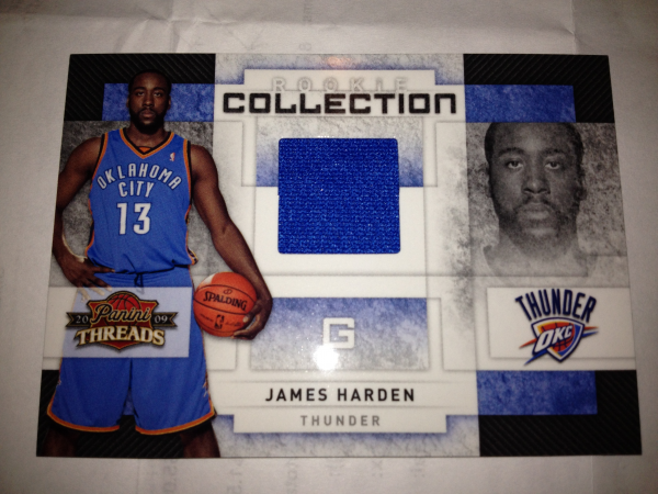 2009-10 Panini Threads Rookie Collection Materials #3 James Harden