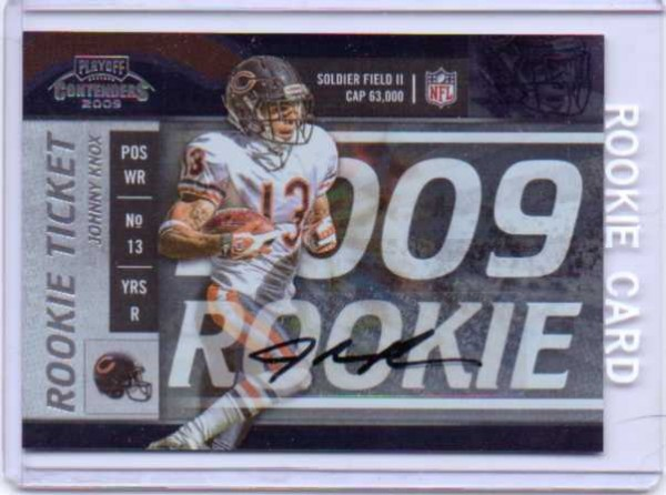 2009 Playoff Contenders #175 Johnny Knox AU RC