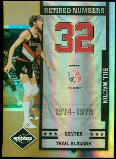 2009-10 Limited Retired Numbers Gold Spotlight #15 Bill Walton
