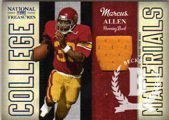 2009 Playoff National Treasures College Material Prime #14 Marcus Allen