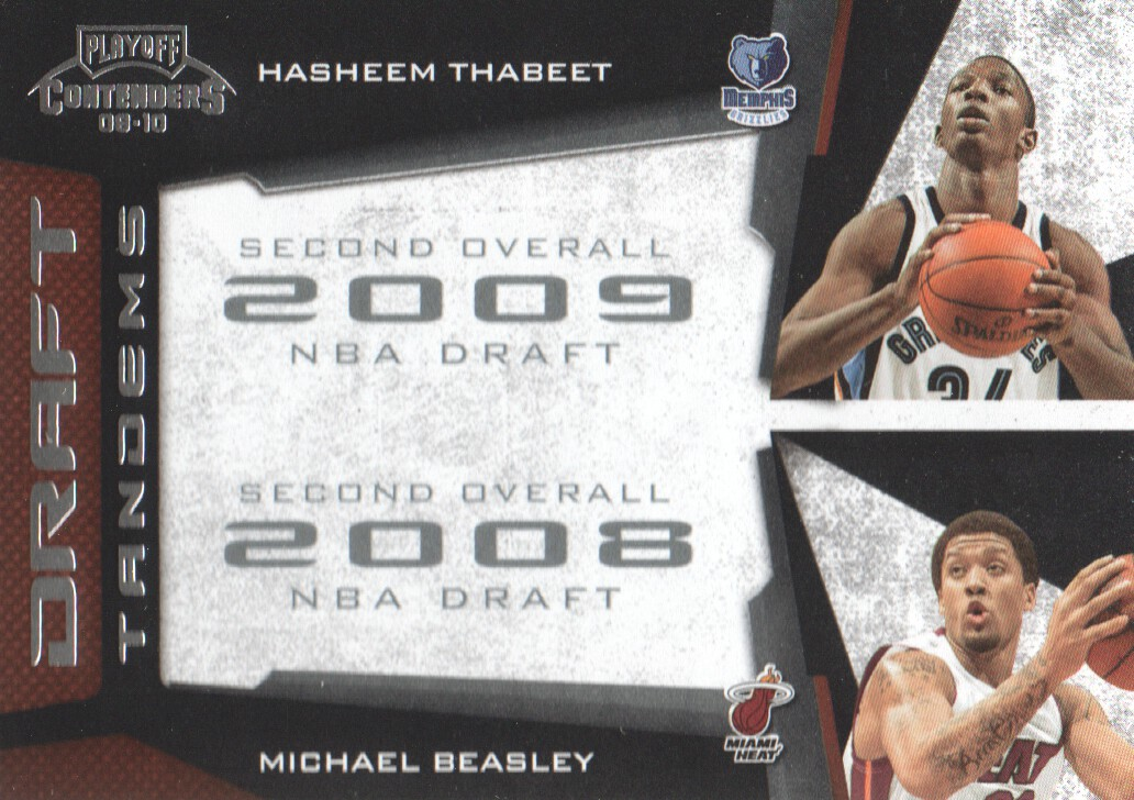 2009-10 Playoff Contenders Draft Tandems #1 Hasheem Thabeet/Michael Beasley