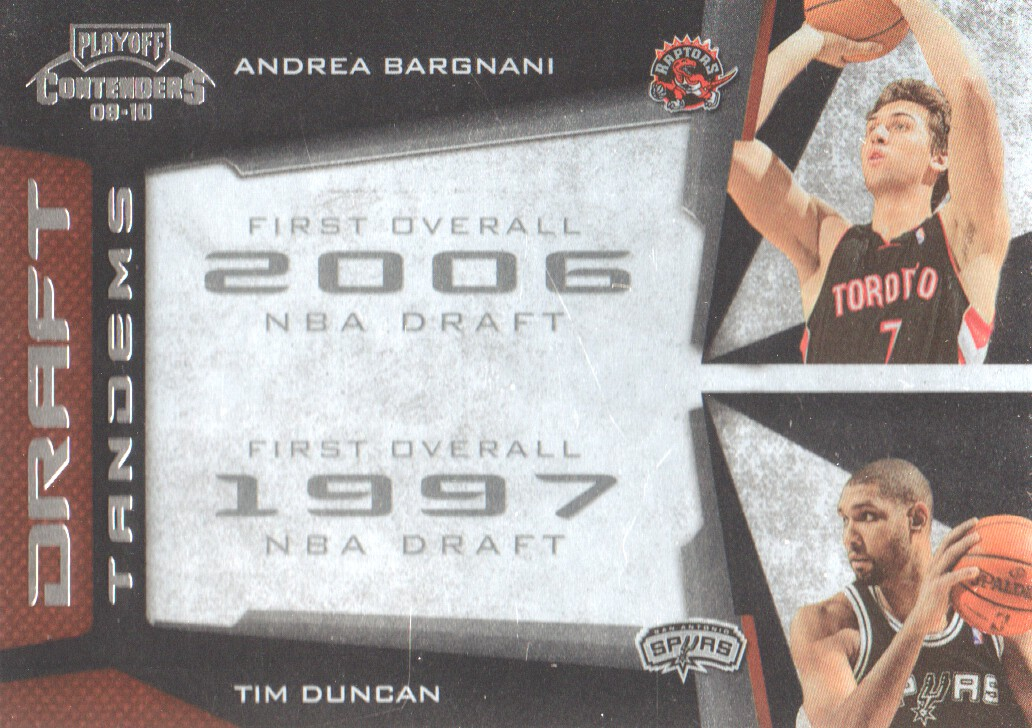 2009-10 Playoff Contenders Draft Tandems #2 Andrea Bargnani/Tim Duncan
