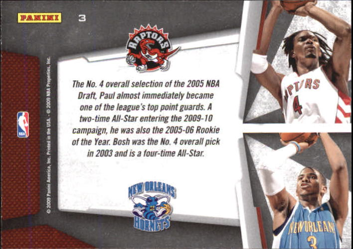 2009-10 Playoff Contenders Draft Tandems #3 Chris Bosh/Chris Paul back image