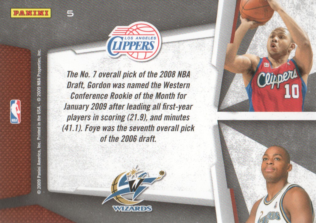 2009-10 Playoff Contenders Draft Tandems #5 Eric Gordon/Randy Foye back image