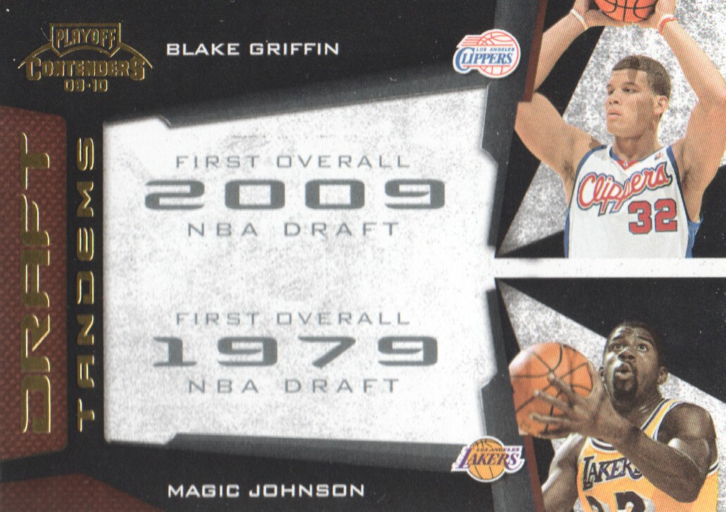 2009-10 Playoff Contenders Draft Tandems Gold #17 Blake Griffin/Magic Johnson